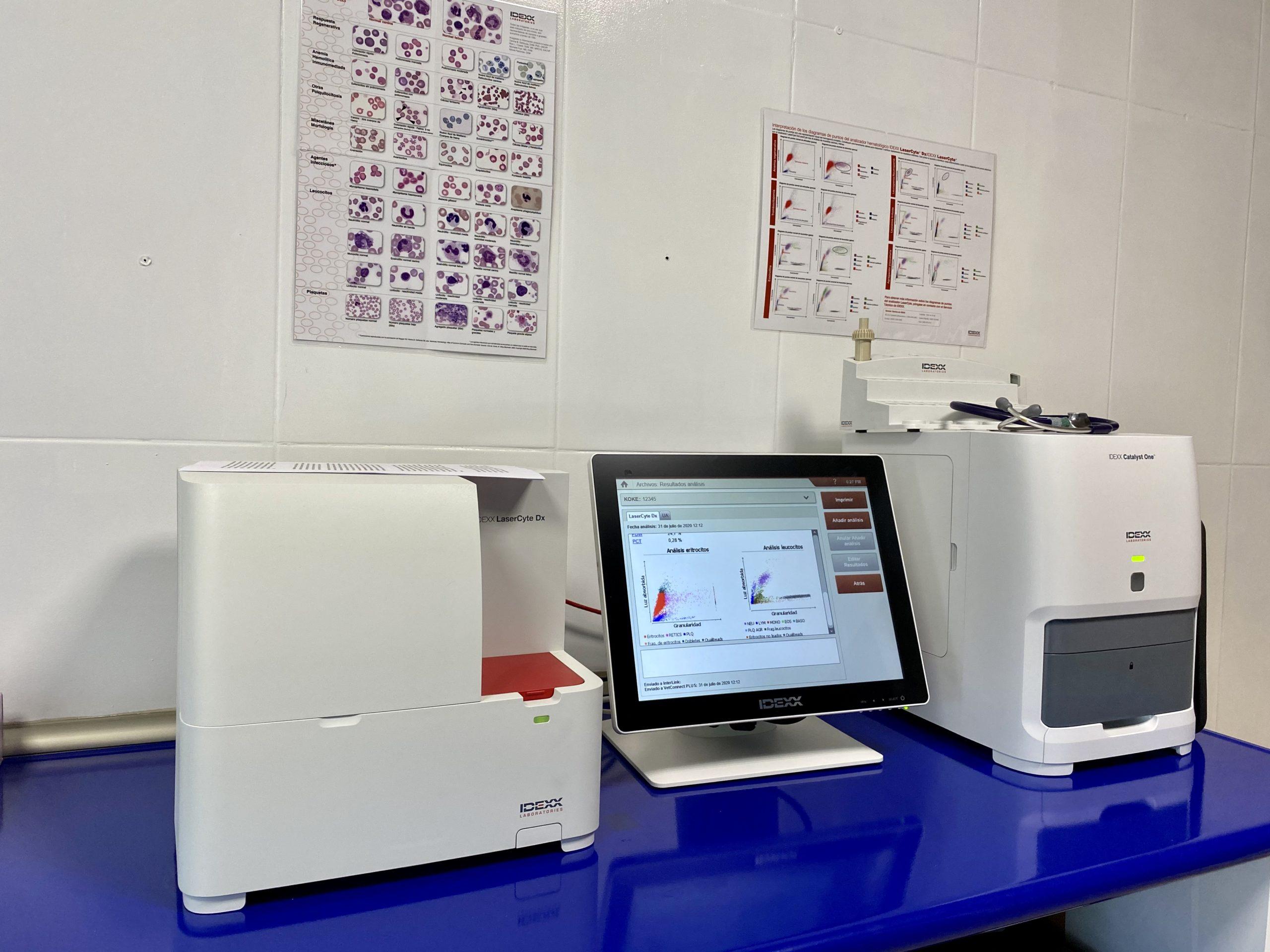 Laboratorio para analíticas sanguíneas de última tecnología